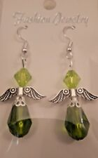 Angel Handmade Drop Earrings With SP Hook Wire