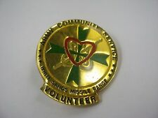 Vintage Collectible Pin: White Sands Missile Range Volunteer Army Community Serv