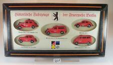 Praline 1/87 Historische Fahrzeuge der Feuerwehr Berlin 5 Modelle OVP #3301