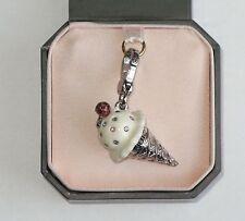 NIB Juicy Couture Silver Ice Cream Cone Charm YJRU3245