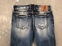 NWT LADIES REMIX ROCK REVIVAL SKINNY JEANS STRETCH BLUE SIZE 26 RX8052S112 185$