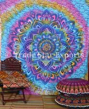 Indian Tie Dye Lotus Mandala Tapestry Decorative Wall Hanging Ethnic Wall Decor