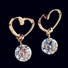 Fashion Women Jewelry 925 Sterling Silver Ear Hook Crystal Rhinestone Earrings &