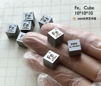 1pcs 99.99% pure Iron Fe Cube Element Periodic Table 10mm 7.9g