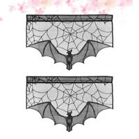 2PCS Table Runner Fashion Spider Web Tablecloth for Easter Christmas