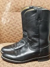 5f7ad6d4383 Justin Black Leather Roper Western Cowboy Boots Women s ...