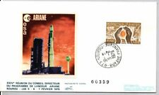 ARIANE ROCKET 2/5/1979, LOLLINI SILK CACHET SPACE COVER, KOUROU GUYANE