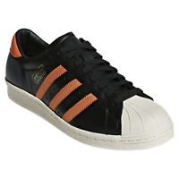 Adidas Originaux Superstar 80S Og Baskets Noir Orange Baskets Rétro Neuf