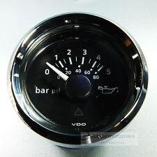 VDO ÖLDRUCKANZEIGER  DRUCKANZEIGER  5 bar / 80psi  OIL PRESSURE GAUGE 12V Chrom