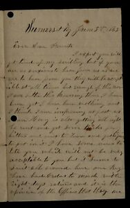 CIVIL WAR LETTER - 112th Illinois Infantry - REMARKABLE CONTENT Somerset, KY !