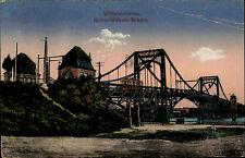 1916 Stempel Wilhelmshaven auf alter Feldpost-AK Tram auf Kaiser-Wilhelm-Brücke