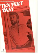 "KEITH WHITLEY ""TEN FEET AWAY"" SHEET MUSIC-1986-VERY RARE-BRAND NEW ON SALE-MINT!"