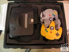 N64 System TESTED With Yellow and Grey Controllers;Travel Master Carrying Case