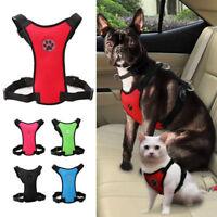 Breathable Air Mesh Pet Dog Cat Car Harness Safety Seat Belt Travel Vest XS-L