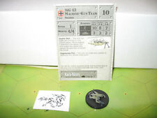 Axis & Allies 1939-1945 MG 42 Machine-Gun Team with card 42/60