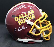 Brian Mitchell Dallas Sucks Autographed Mini Helmet Redskins Legend