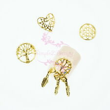 Hollow Out Gold Metallic Alloy Charms Vintage Design 3D Nail Art Manicure Decor