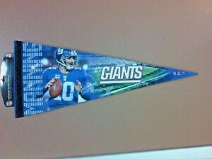 NFL NEW YORK GIANTS ELI MANNING FELT PENNANT BRAND NEW WITH TAGS NICE !!!!