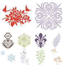 Retro Flower Wall Painting Stencil Template Plastic Mural Home Wall Decor