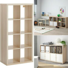 Ikea KALLAX Storage Organiser Shelving Unit Home White Stained Oak Effect 77x147