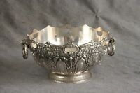W&S Blackinton BOWL Hollywood Regency Silverplated Ornate Repousse Ring Handles