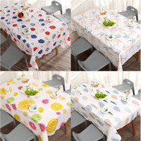2Pc Waterproof PVC Tablecloth Table Cover Wipe Clean Protector Kitchen Home Deco