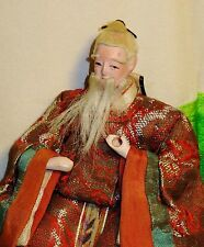 """Antique Pre-1920 Japanese Seated 5.5"""" Old Male Attendant Hina Doll #AAD4161415.9"""