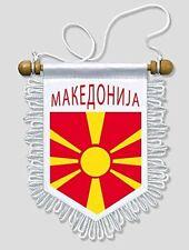 Republic of Macedonia - 5 X 6 Inch - Macedonian Car and Wall Flag Pennant Banner