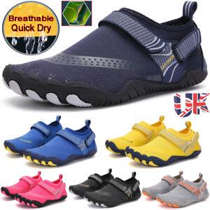 UK Mens Womens Water Shoes Aqua Surf Beach Swim Wetsuit Non Slip Yoga Pumps Size