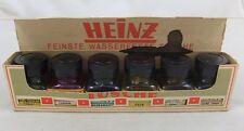 6 x Heinz Tusche Tintenfläschchen antik ink bottle antique