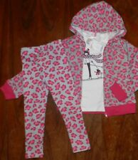 Pant Outfit 3pc Gray Prints Leopard Print Gymboree Hoodie Girl size 5 New