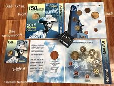 Commemorative Coin Set Philippine 2015 Heneral Miguel Malvar 150th Years