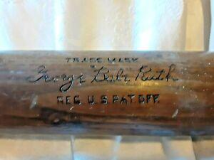 "Vtg Babe Ruth 35"" Louisville Slugger Model 40-B.R. Powerized Baseball Bat - RARE"