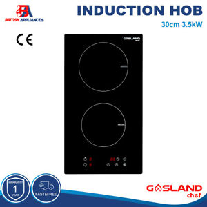 GASLAND Chef 30cm Black 2 Zone Touch Control Electric Glass Induction Hob 3.5kW
