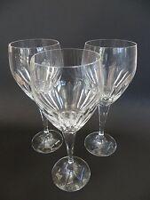 Thomas Webb Crystal, Set of 3 Large Wine Glasses, 22.5cm tall.