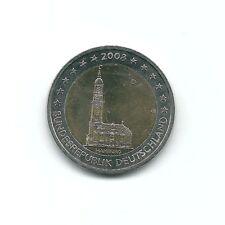 MONEDA 2 EUROS C. ALEMANIA 2008 LETRA D. HAMBURG. SIN CIRCULAR
