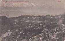 Antique POSTCARD c1906 View of DARJEELING, INDIA from Woodland's Hotel 16734