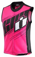 Icon Hi-Viz Mil Spec 2 Womens Motorcycle Motorbike Vest Pink - All Sizes