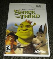 SHREK THE THIRD - Wii - COMPLETE W MANUAL - FREE S/H - (T)