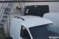 To Fit 10 - 15 VW Volkswagen Caddy SWB Black Aluminium Roof Rails Rack Bars