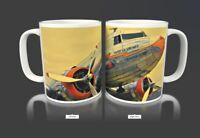 Vintage American Airlines Flagship Detroit Coffee Mug Cup