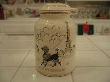 Adorable Vintage Lipper Mann Pink Bank Poodle Eiffel Tower Paris For My Cadillac