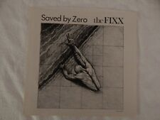 """The Fixx """"SAVED BY ZERO"""" PICTURE SLEEVE! NEW! NICEST COPY ON eBAY!"""