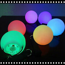 LED Multi-Coloured Glow POI Thrown Balls Light up For Belly Dance Hand Props HP