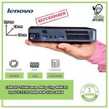 LENOVO ThinkCentre M92p Tiny MINI PC i5-3570T RAM 8GB SSD 240GB