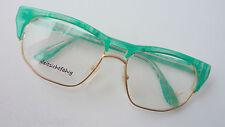 Filou Damenbrille Vintage Brillenfassung gold grün groß ausgefallen 56-18 size L