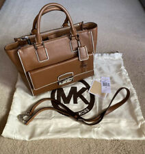 Michael Kors Audrey Large Tan Leather Bag And Satchel