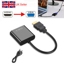 1080p HDMI to VGA Audio Adapter Cable Converter for HDTV PC Monitors Laptops
