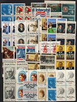 Lot of blocks of 4 all different MNH mixed denominations