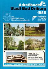 Stadt Bad Driburg, Adreßbuch 1985, Adress-Buch, Adressen Branchen Straßen Verz.